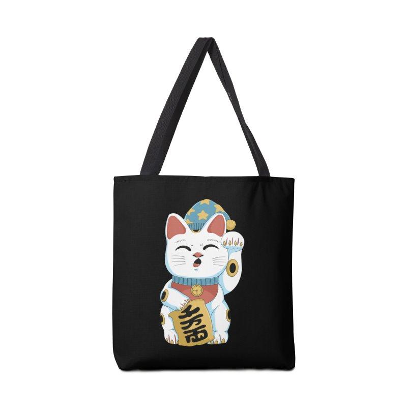 Lucky Cat Sleepy Accessories Bag by Pepe Rodríguez