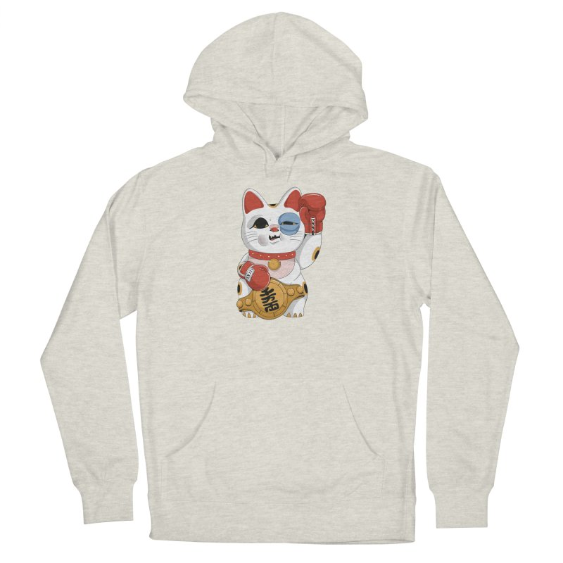 Lucky Cat Champion Men's Pullover Hoody by Pepe Rodríguez