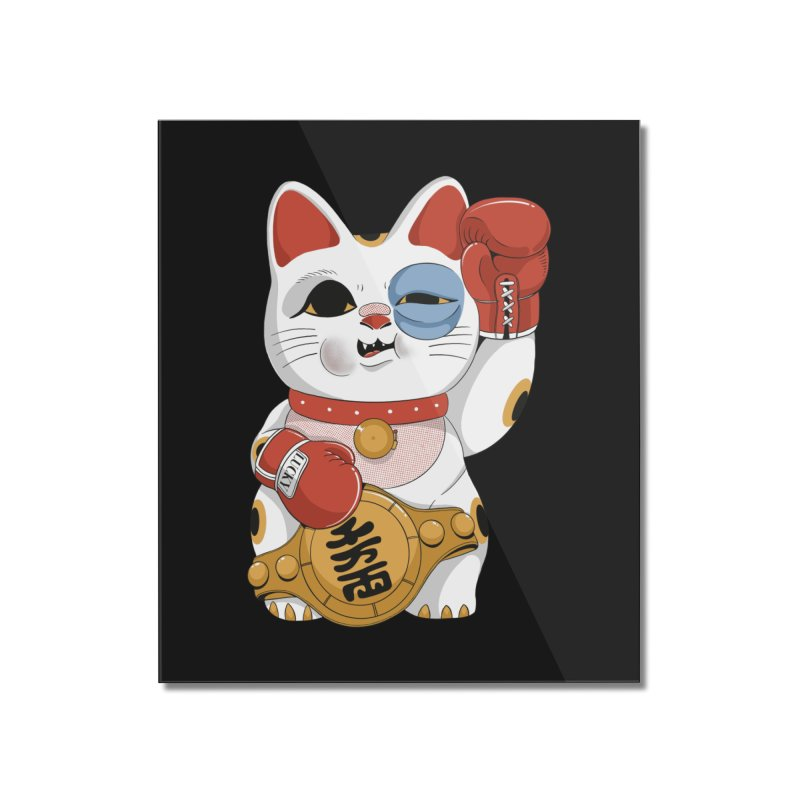 Lucky Cat Champion Home Mounted Acrylic Print by Pepe Rodríguez
