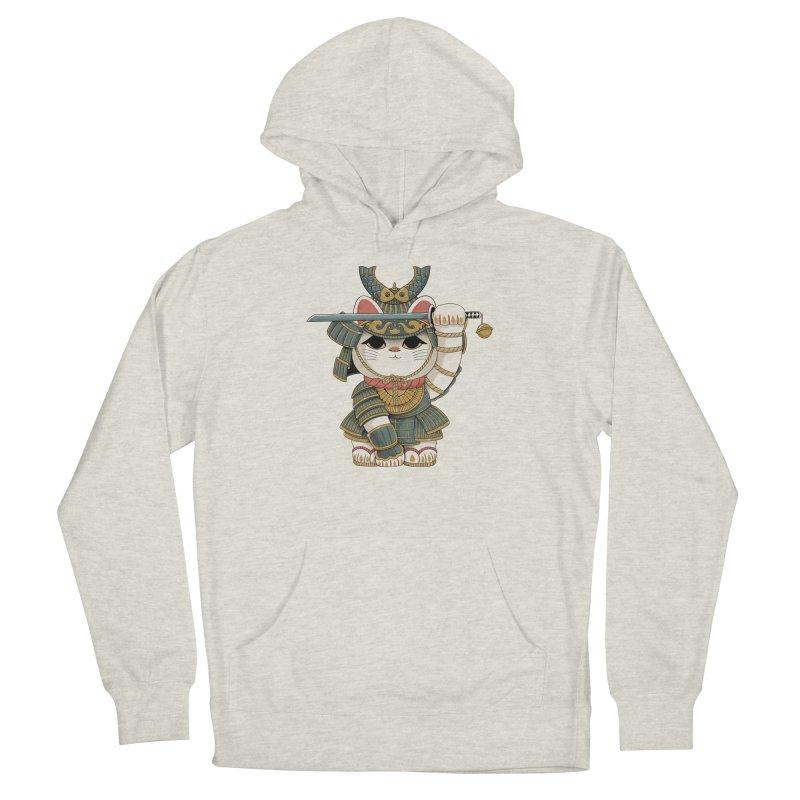 Lucky Cat Samurai Men's Pullover Hoody by Pepe Rodríguez