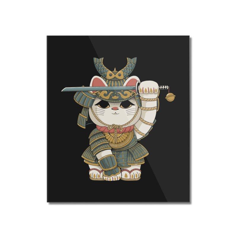 Lucky Cat Samurai Home Mounted Acrylic Print by Pepe Rodríguez