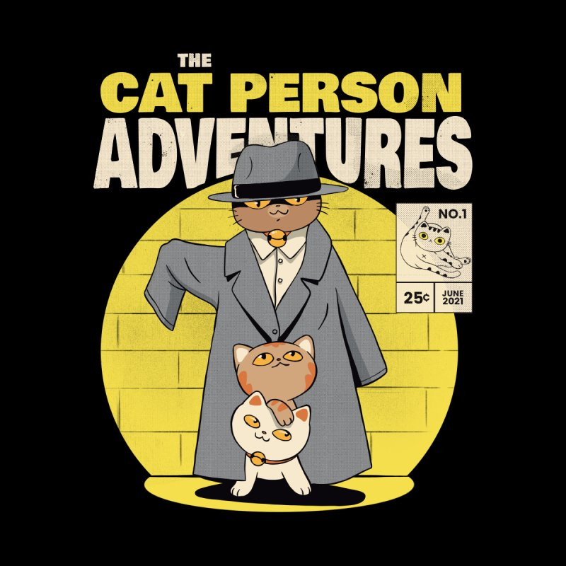 Cat Person Men's Pullover Hoody by Pepe Rodríguez