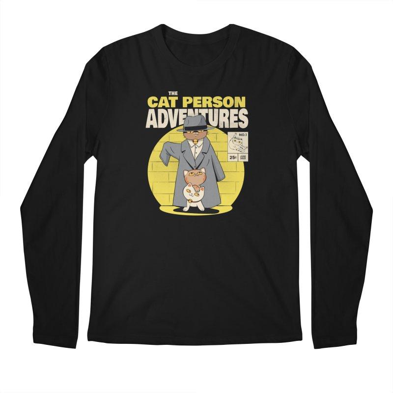 Cat Person Men's Longsleeve T-Shirt by Pepe Rodríguez