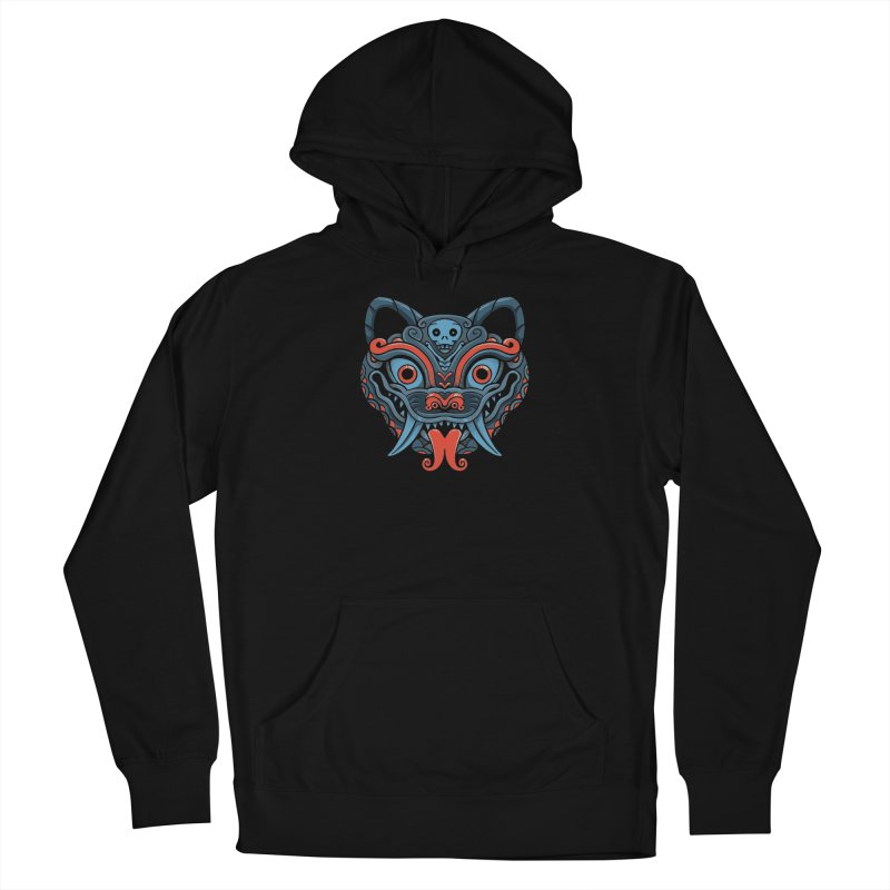 Devil Cat Mask Men's Pullover Hoody by Pepe Rodríguez