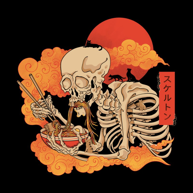 Yokai Ramen and Cats Men's Longsleeve T-Shirt by Pepe Rodríguez