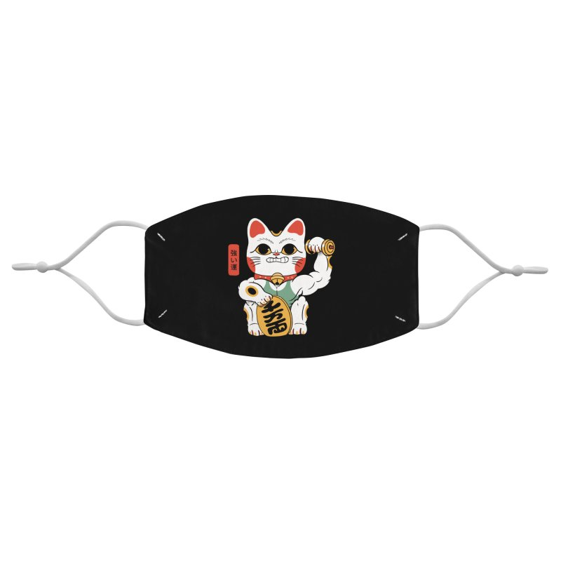 Lucky Strong Cat Accessories Face Mask by Pepe Rodríguez