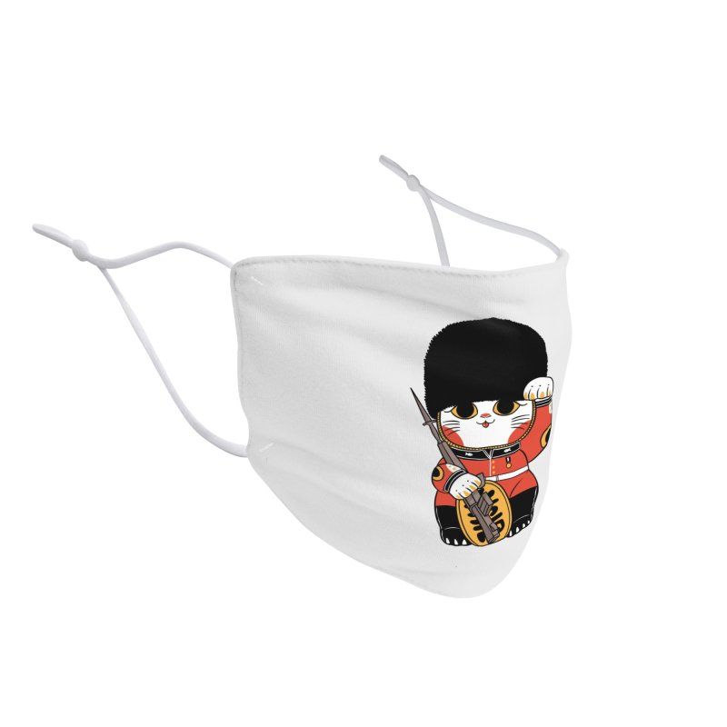 Lucky Cat British Accessories Face Mask by Pepe Rodríguez