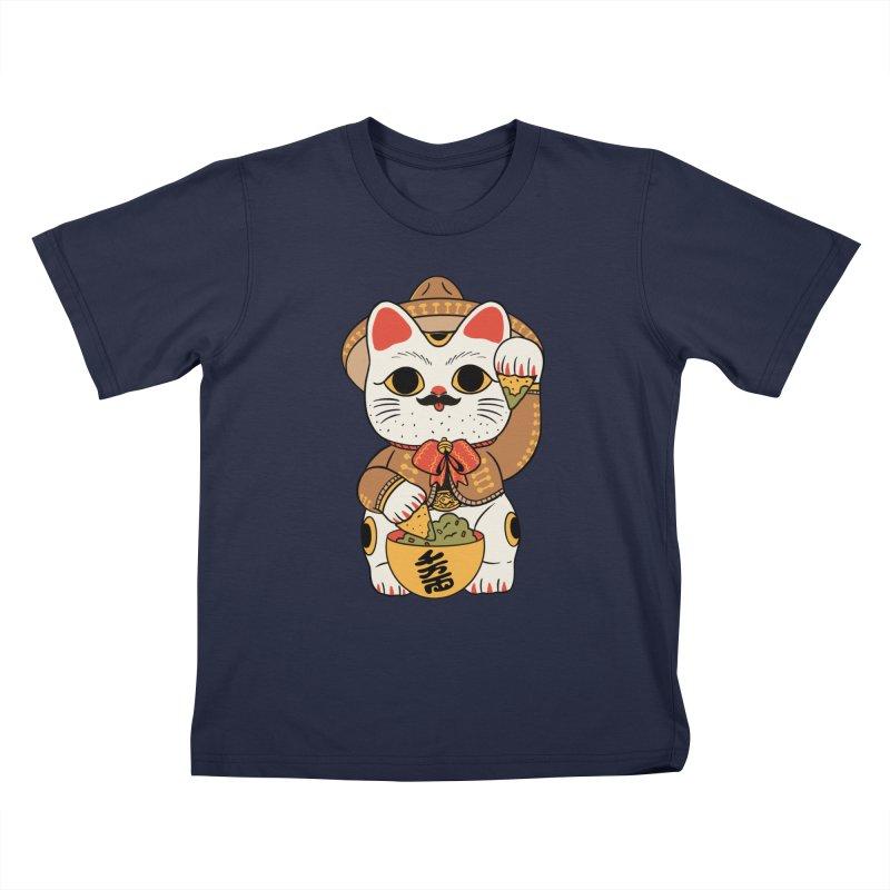 Gato de la suerte Kids T-Shirt by Pepe Rodríguez