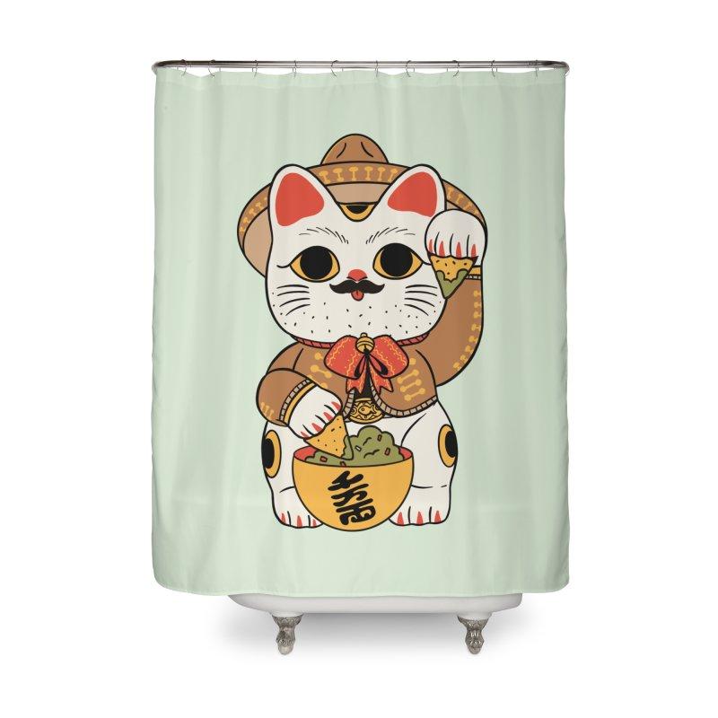 Gato de la suerte Home Shower Curtain by Pepe Rodríguez
