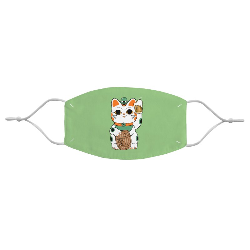 Double Lucky Cat Accessories Face Mask by Pepe Rodríguez