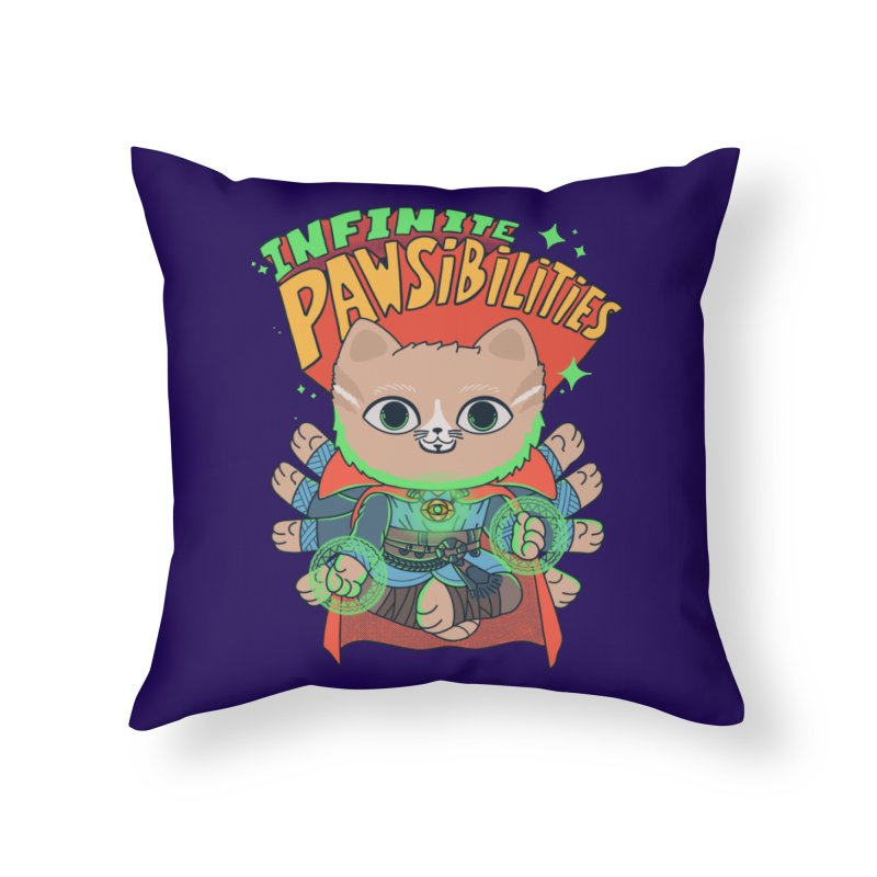 Infinite Pawsibilities Home Throw Pillow by Pepe Rodríguez