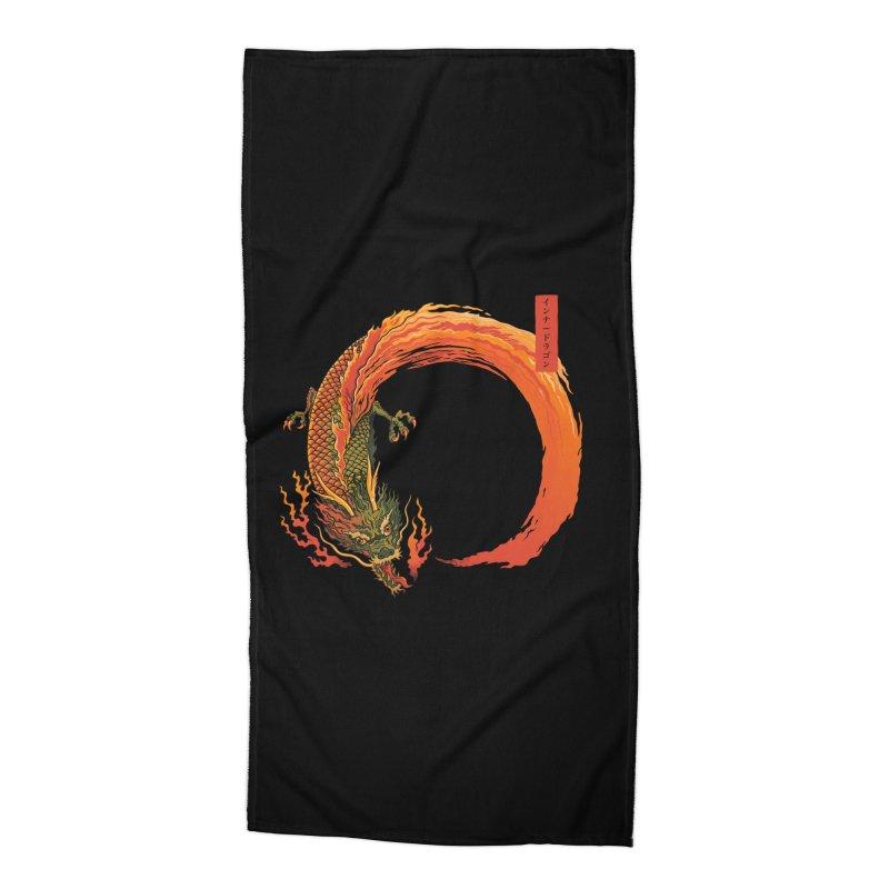 Inner Dragon Fire Accessories Beach Towel by Pepe Rodríguez