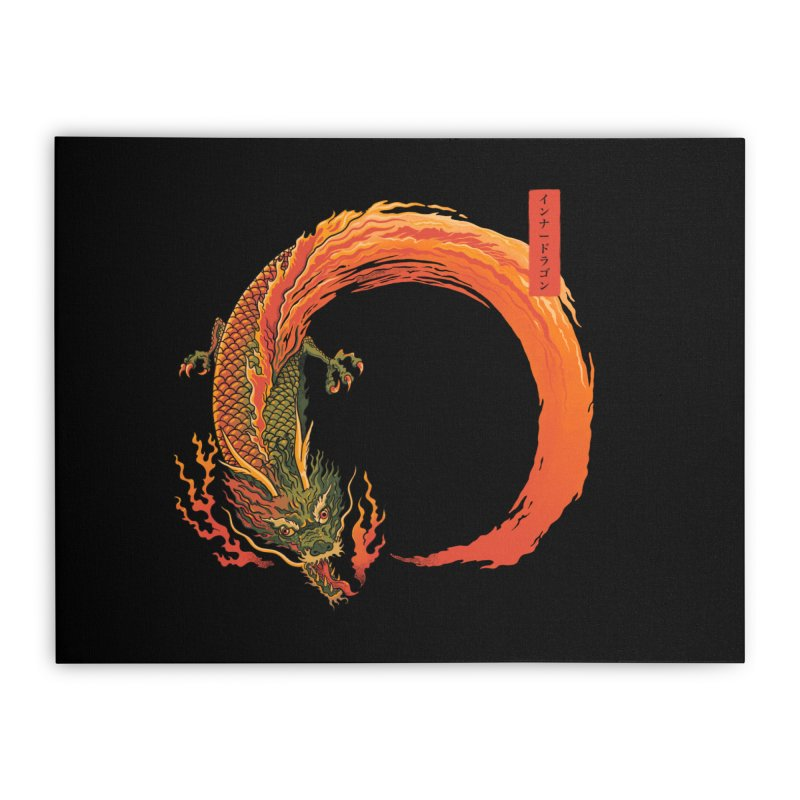Inner Dragon Fire Home Stretched Canvas by Pepe Rodríguez
