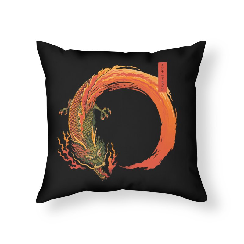 Inner Dragon Fire Home Throw Pillow by Pepe Rodríguez