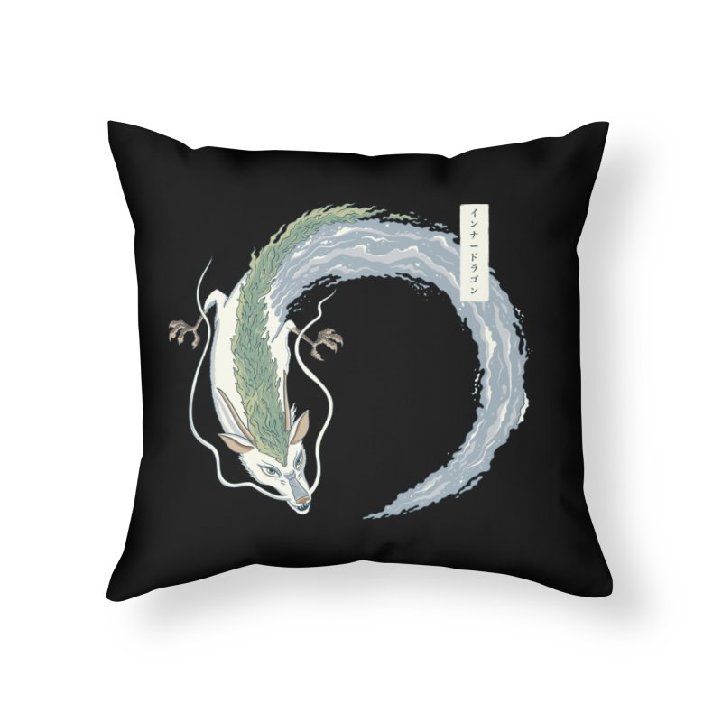 Inner Dragon Water Home Throw Pillow by Pepe Rodríguez