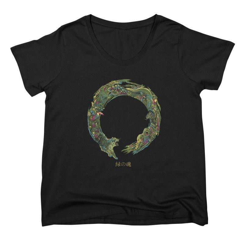 Enso Green Soul Women's Scoop Neck by Pepe Rodríguez
