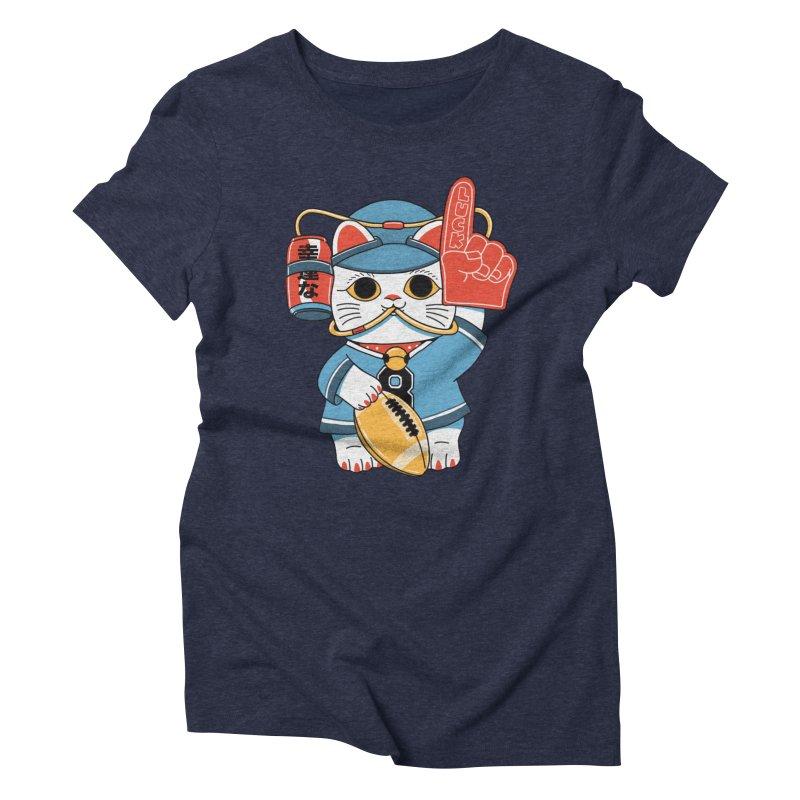 Lucky Cat Fan Football Women's T-Shirt by Pepe Rodríguez