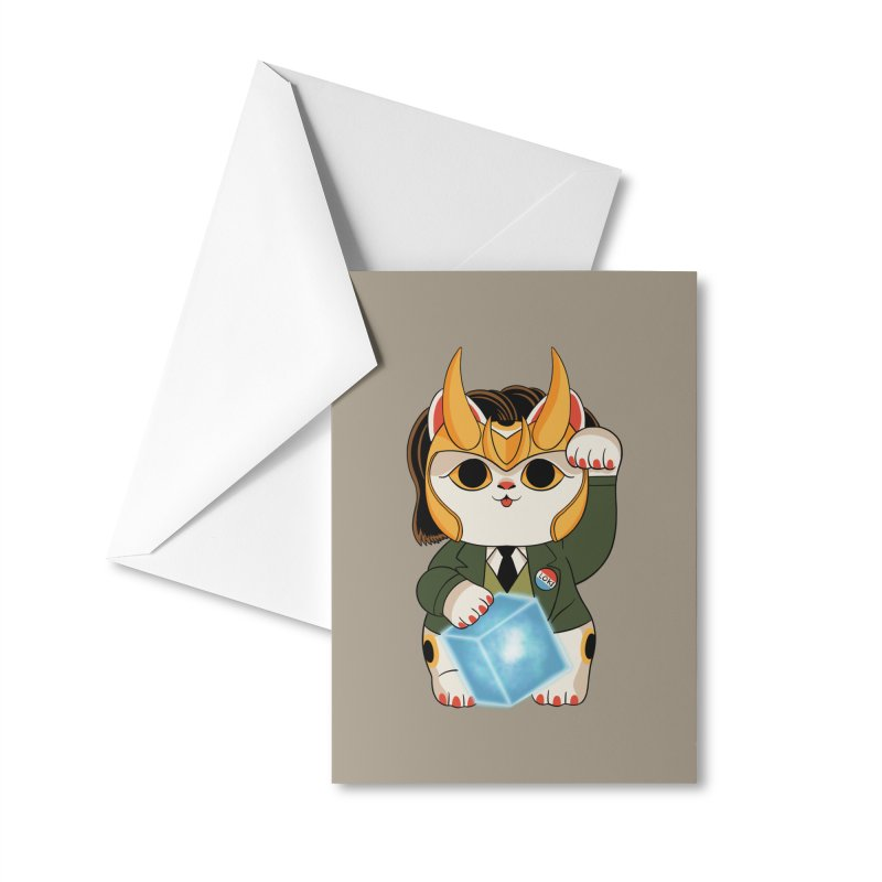 Loki Cat Accessories Greeting Card by Pepe Rodríguez