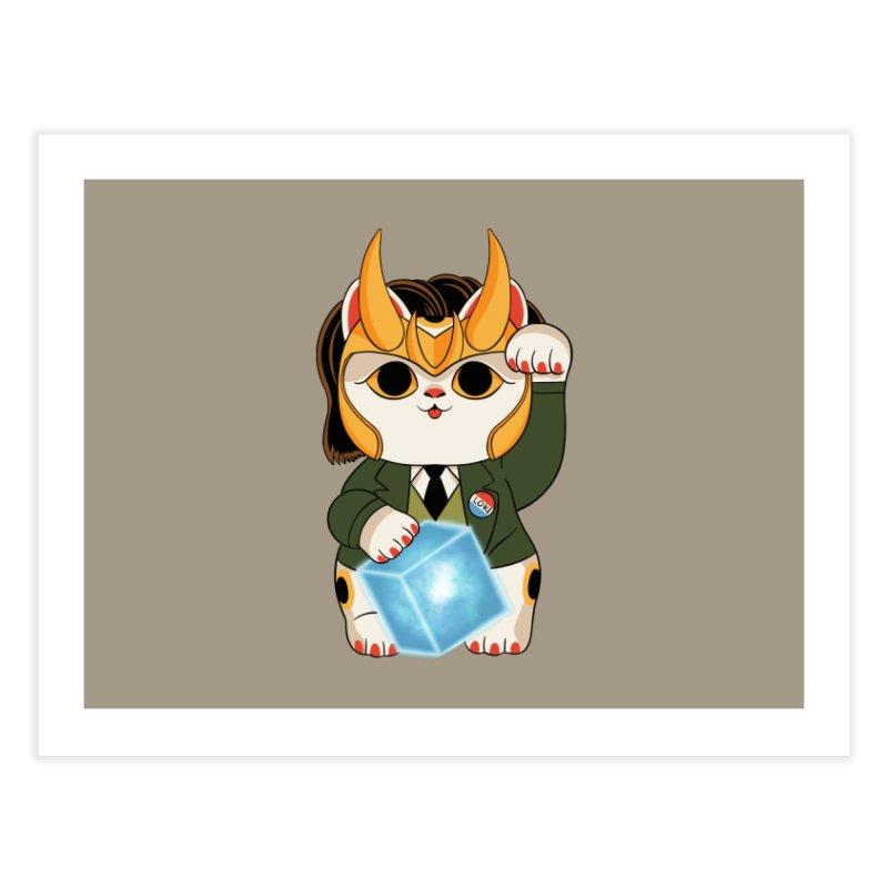 Loki Cat Home Fine Art Print by Pepe Rodríguez