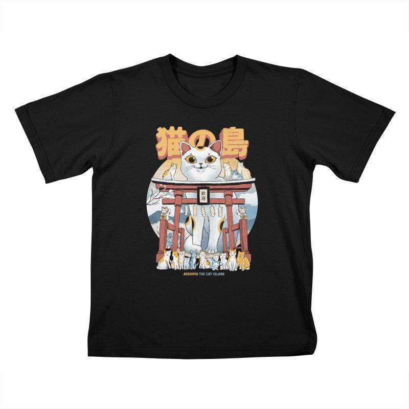 Cat Island Kids T-Shirt by Pepe Rodríguez