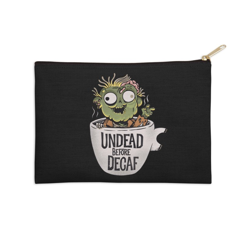 Undead Before Decaf Accessories Zip Pouch by Pepe Rodríguez