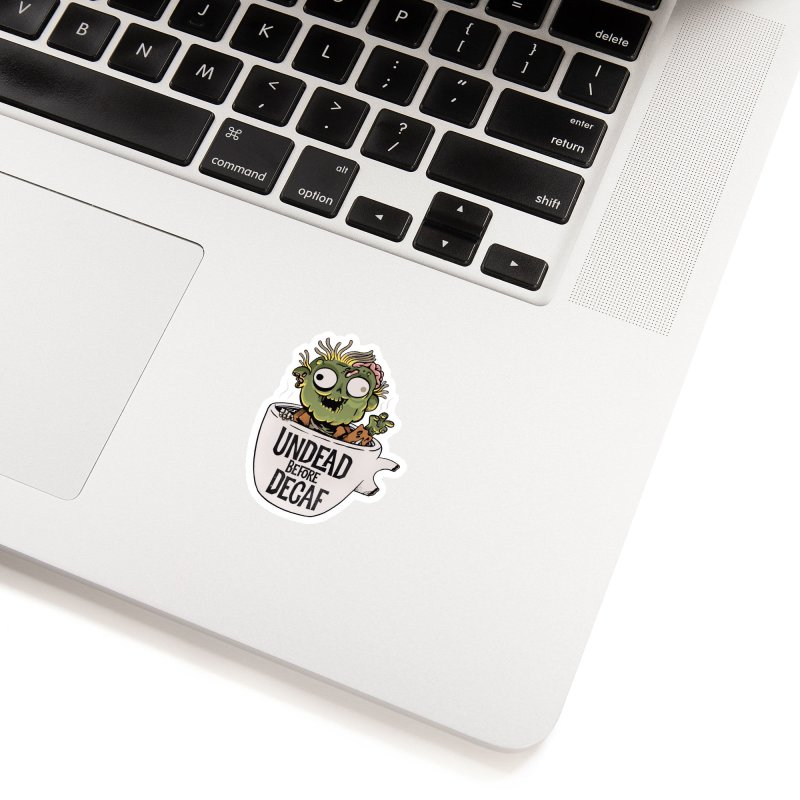 Undead Before Decaf Accessories Sticker by Pepe Rodríguez