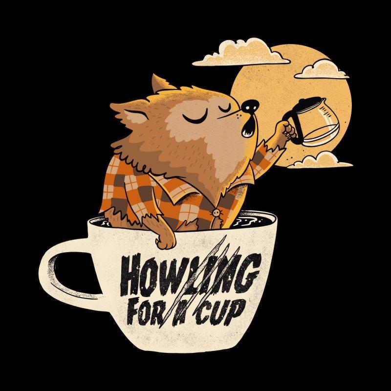 Werewolf and coffee Women's Longsleeve T-Shirt by Pepe Rodríguez
