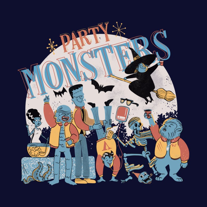 Party Monsters Women's Zip-Up Hoody by Pepe Rodríguez