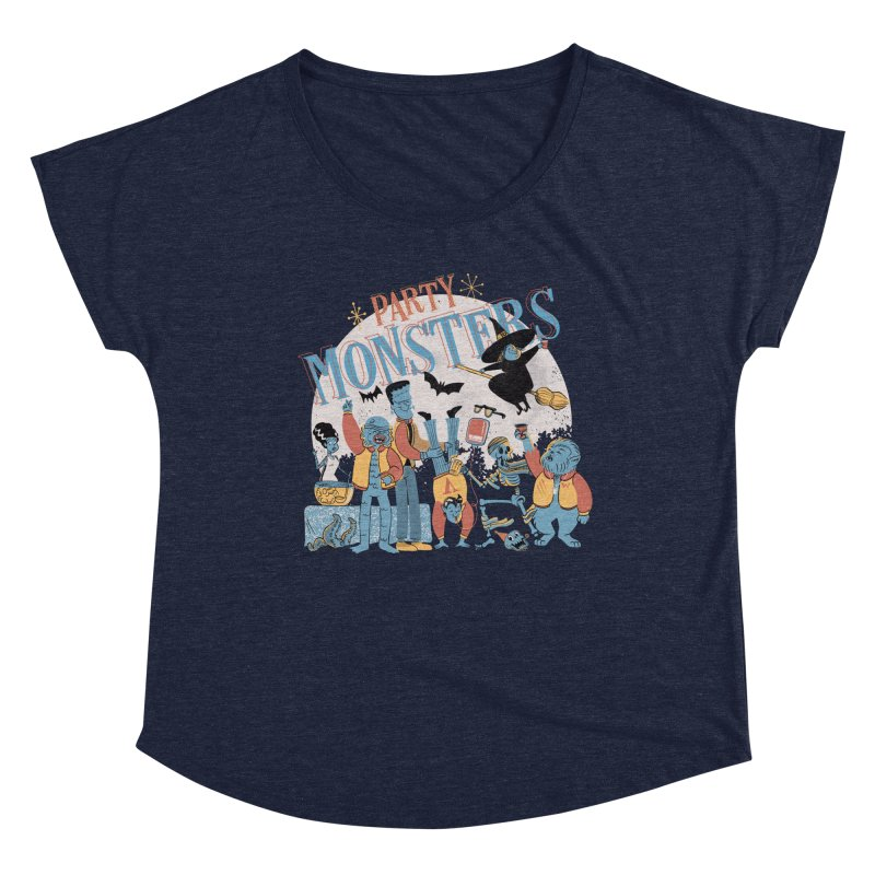 Party Monsters Women's Scoop Neck by Pepe Rodríguez
