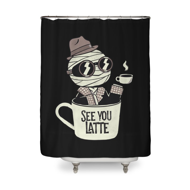 Invisible before coffee Home Shower Curtain by Pepe Rodríguez