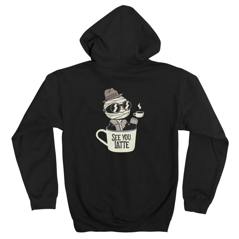 Invisible before coffee Men's Zip-Up Hoody by Pepe Rodríguez