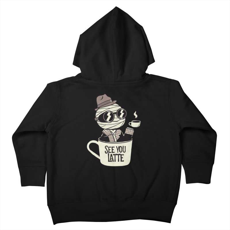 Invisible before coffee Kids Toddler Zip-Up Hoody by Pepe Rodríguez