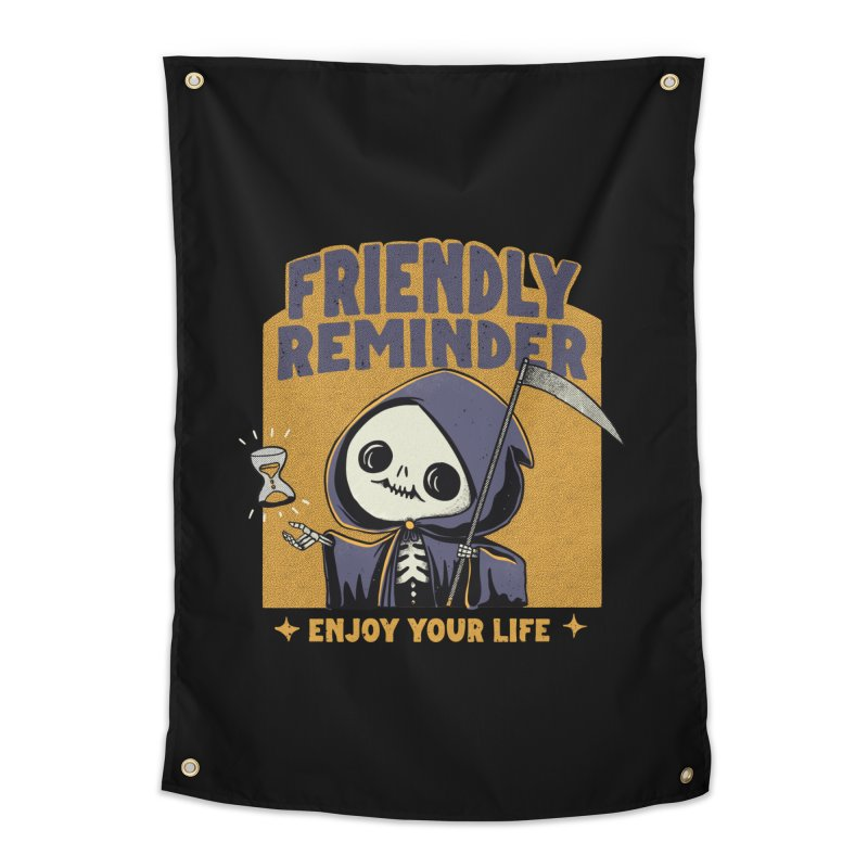 Friendly Reminder Home Tapestry by Pepe Rodríguez