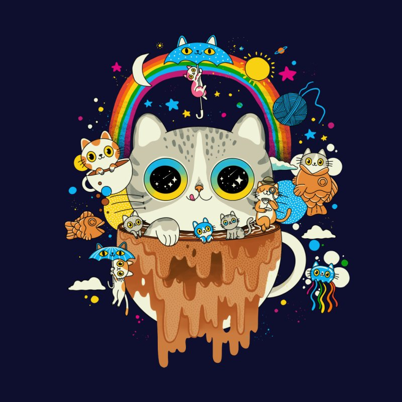 Cats Tripping Dripping Coffee Morning Women's T-Shirt by Pepe Rodríguez