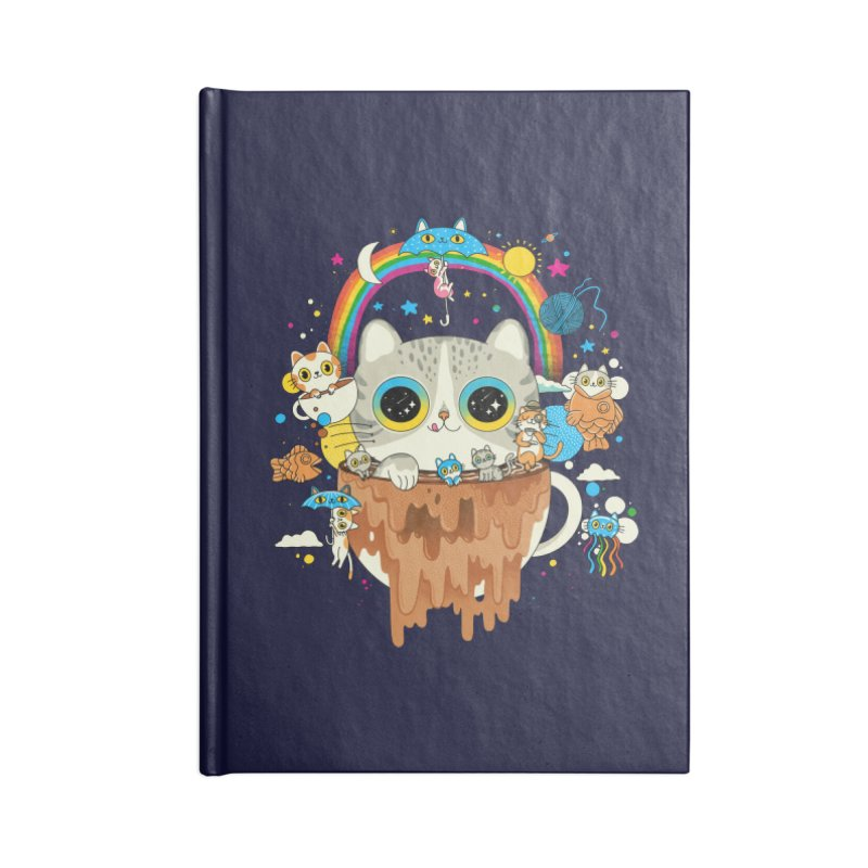 Cats Tripping Dripping Coffee Morning Accessories Notebook by Pepe Rodríguez