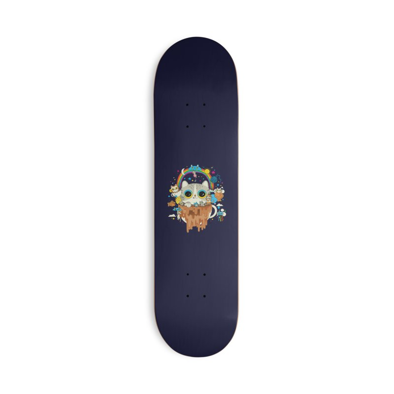 Cats Tripping Dripping Coffee Morning Accessories Skateboard by Pepe Rodríguez