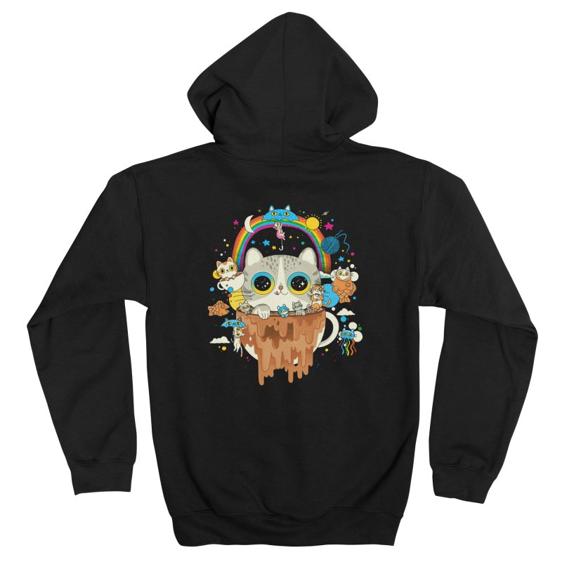 Cats Tripping Dripping Coffee Morning Men's Zip-Up Hoody by Pepe Rodríguez