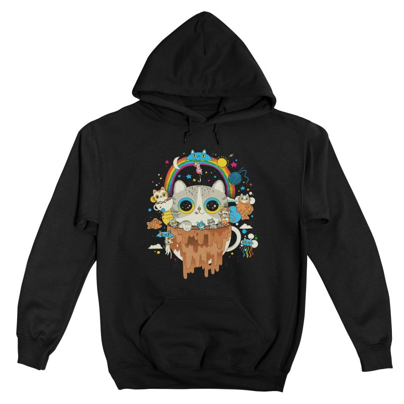 Cats Tripping Dripping Coffee Morning Men's Pullover Hoody by Pepe Rodríguez