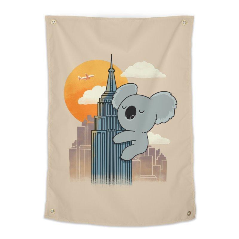Koala Kaiju Home Tapestry by Pepe Rodríguez