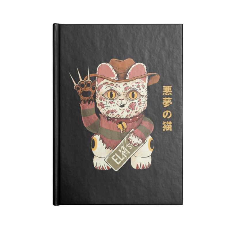 Lucky Nightmare Cat Accessories Notebook by Pepe Rodríguez