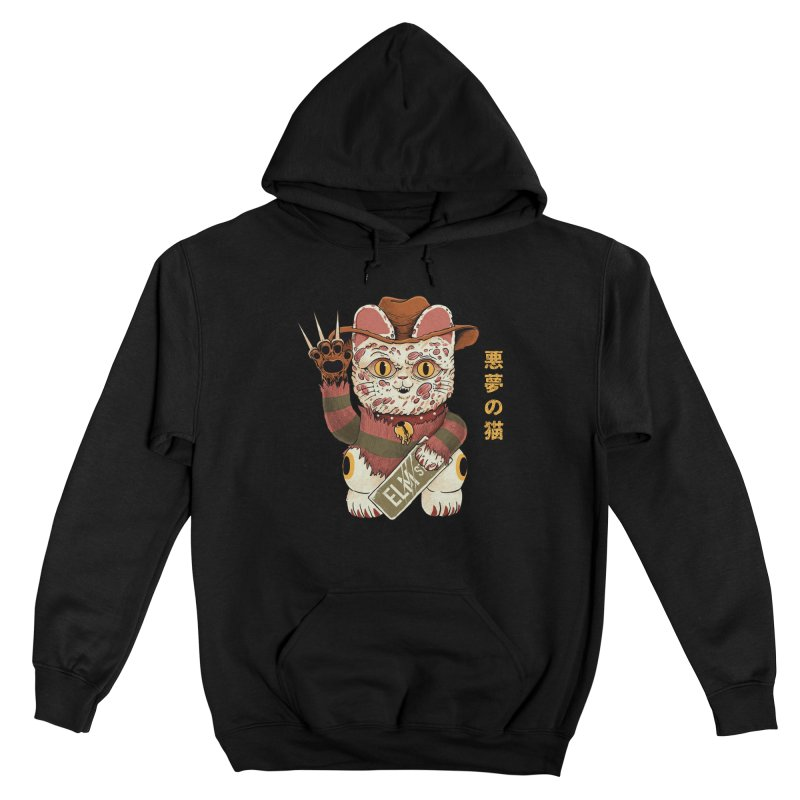 Lucky Nightmare Cat Men's Pullover Hoody by Pepe Rodríguez