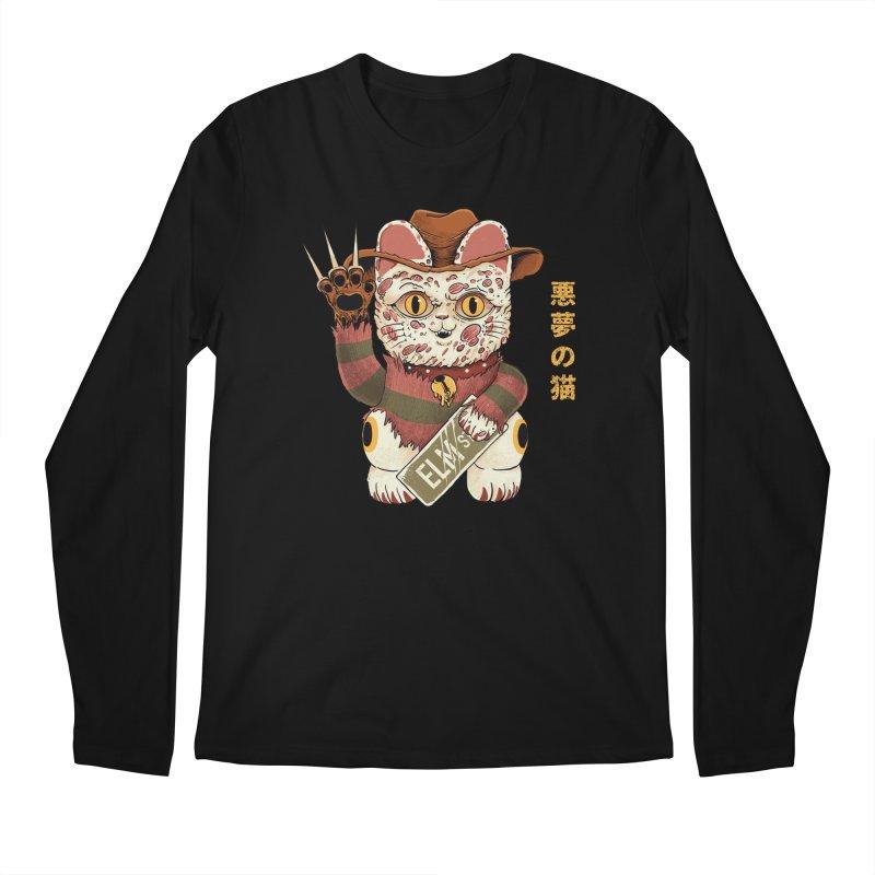 Lucky Nightmare Cat Men's Longsleeve T-Shirt by Pepe Rodríguez