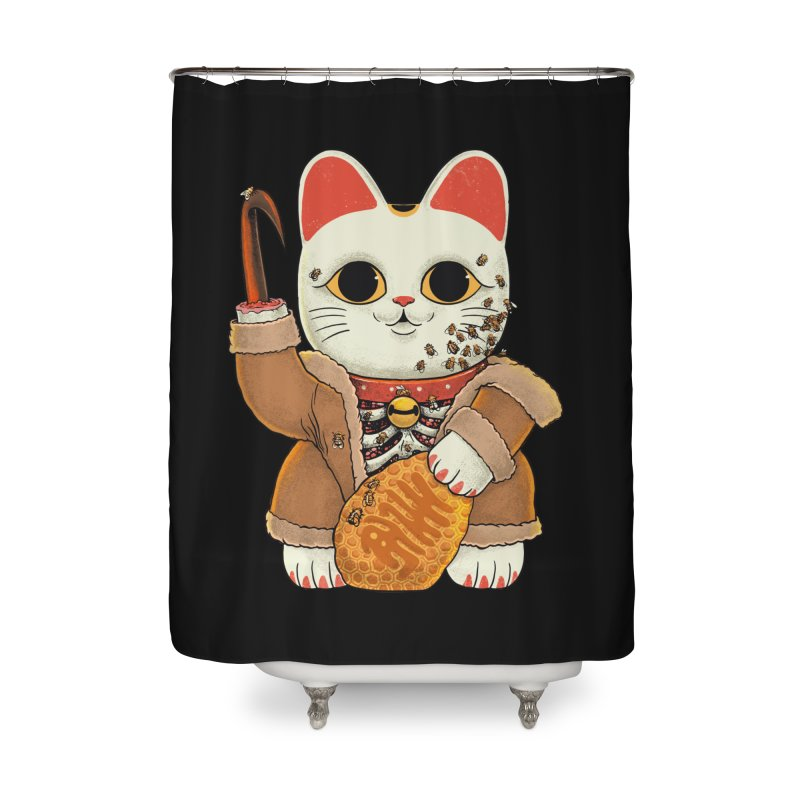 Lucky Candycat Home Shower Curtain by Pepe Rodríguez