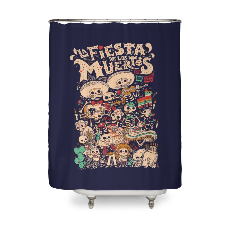 Dead party Home Shower Curtain by Pepe Rodríguez