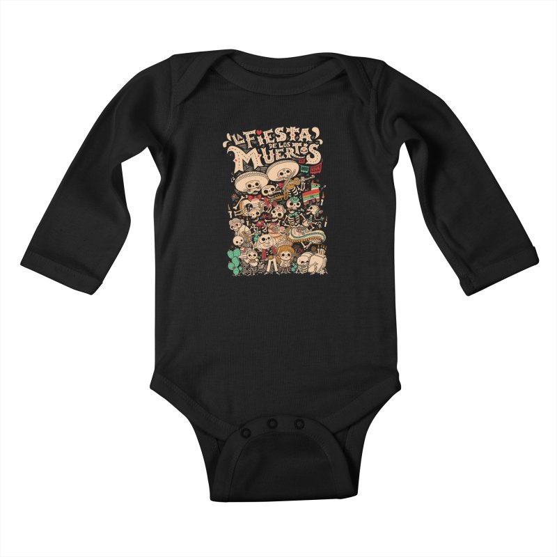Dead party Kids Baby Longsleeve Bodysuit by Pepe Rodríguez