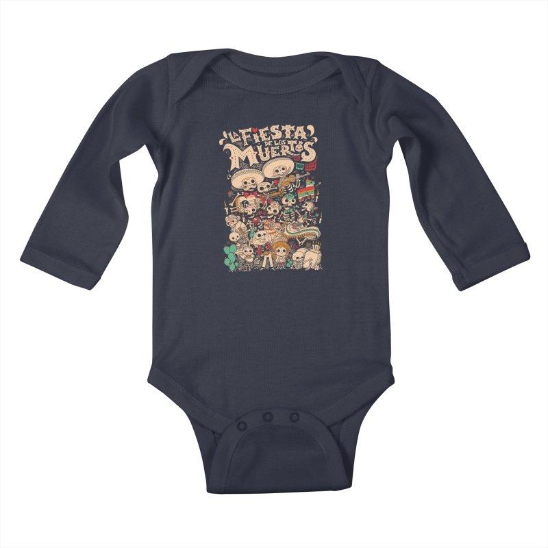 Dead party Kids Baby Longsleeve Bodysuit by Pepe Rodríguez
