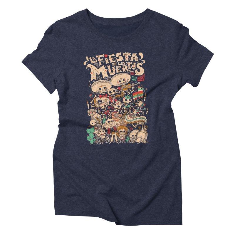 Dead party Women's Triblend T-Shirt by Pepe Rodríguez