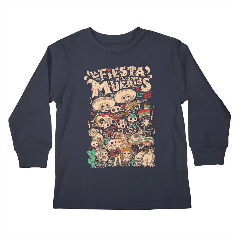 Dead party Kids Longsleeve T-Shirt by Pepe Rodríguez