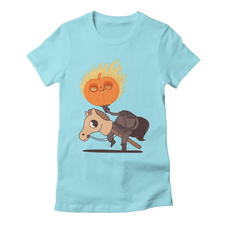 Spooky Rider Women's Fitted T-Shirt by Pepe Rodríguez