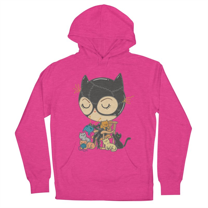 Cat Lady Men's French Terry Pullover Hoody by Pepe Rodríguez